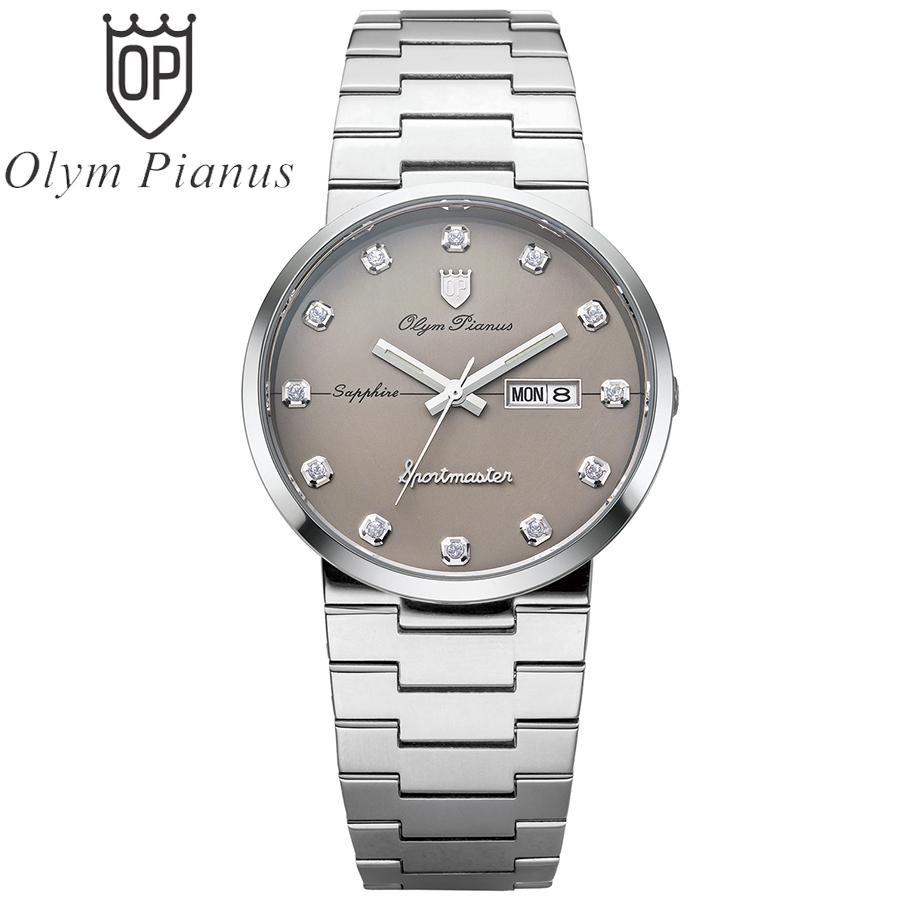 Nơi bán Đồng hồ nam mặt kính sapphire Olym Pianus OP890-09MS ghi