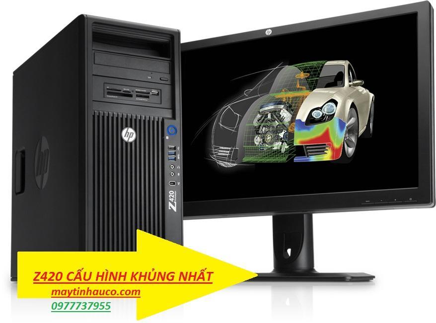 Máy tính để bàn chuyên đồ họa HP Workstation  Z420-CPUE5-2660RAM16GB SSD120500QUADRO