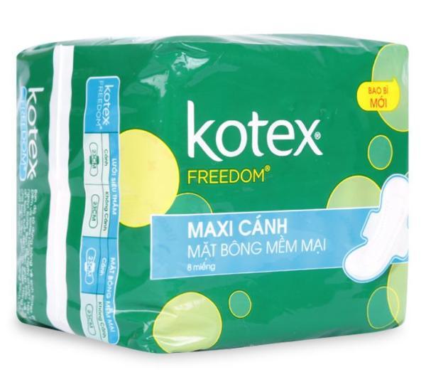 Băng Vệ Sinh Kotex Preedom Maxi Cánh 8 Miếng