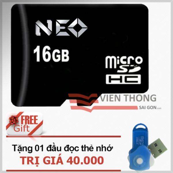 Thẻ nhớ 16GB NEO micro SDHC -  Tặng đầu đọc micro PT