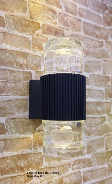 Đèn Thủy Tinh Led Gắn Tường 2 Đầu 10W (Vàng)