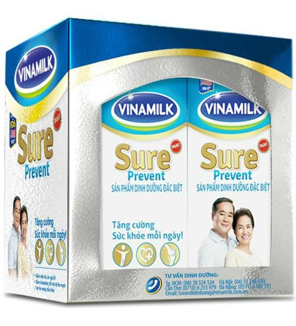 Sữa Uống Dinh Dưỡng Vinamilk Sure Prevent - Lốc 4 Hộp x 200ml