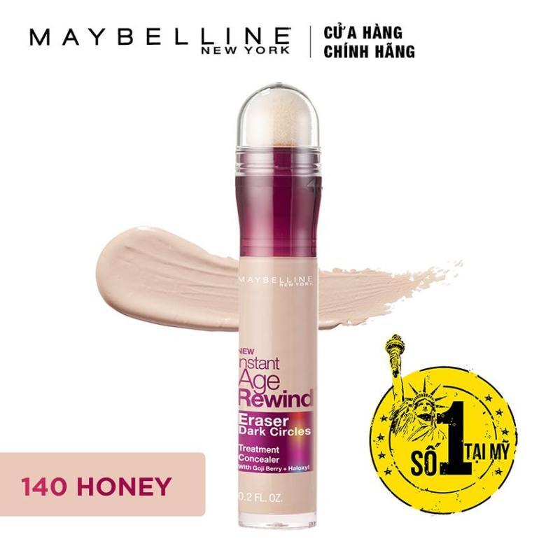 Bút cushion che khuyết điểm, giảm quầng thâm Maybelline Instant Age Rewind Concealer 140 Honey