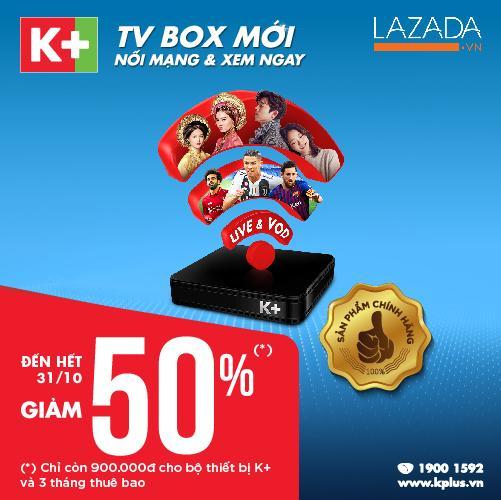 Hình ảnh Bộ thiết bị K+ TV BOX và 3 tháng thuê bao Premium HD+
