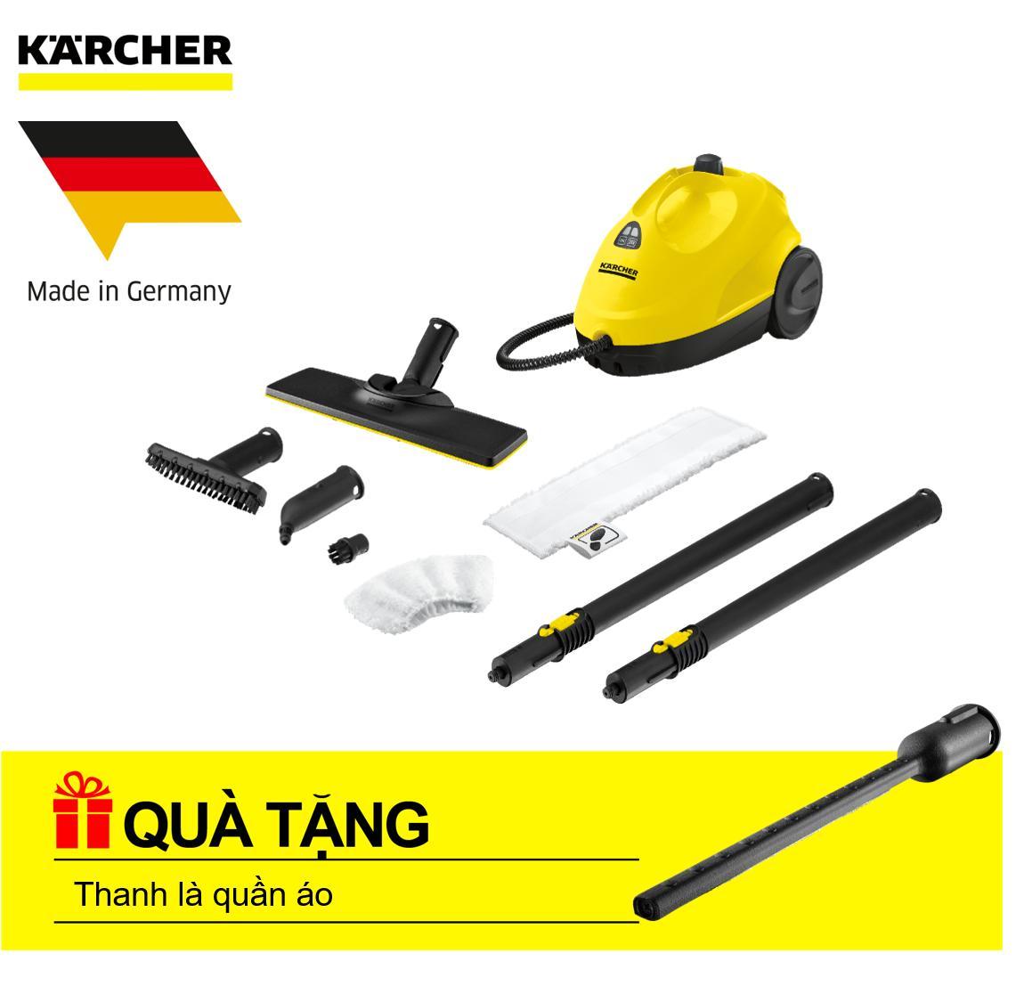 Máy làm sạch bằng hơi nước Karcher SC 2 EasyFix (Tặng ngay thanh là quần áo trị giá 320.000 đồng)