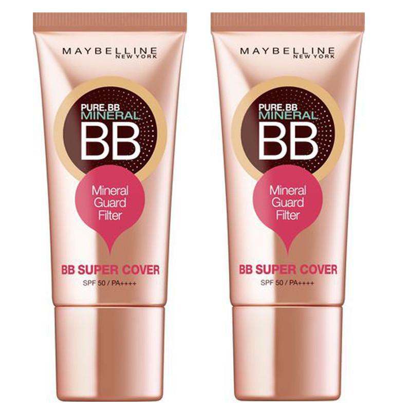 Kem nền siêu mịn dưỡng sáng Maybelline New York BB Super Cover SPF50/PA++++ tông trung bình ( tuýp 30 gram )