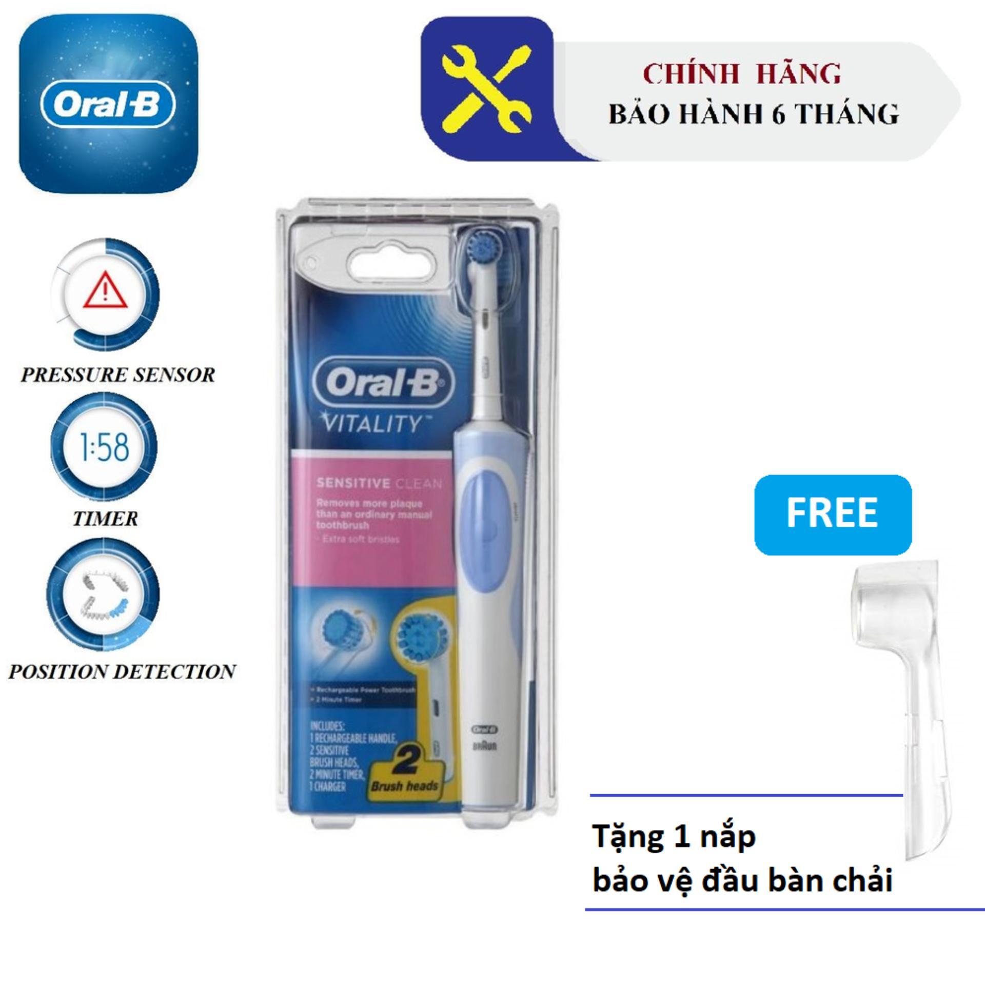 Giá Bàn chải đánh răng điện Oral-B Sensitive Clean (Bảo hành 6 tháng) +Tặng kèm 1 nắp bảo vệ đầu bàn chải