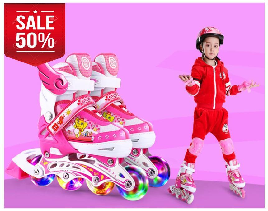 Giá bán Các Loại Đồ Chơi Cho Bé, Giày Patin Trẻ Em Chống Trẹo Chân K145, Tặng Kèm Mũ Và Đồ Bảo Hộ,  Bảo Hành 1 Đổi 1 Trong 12 Tháng Mẫu Sp 049