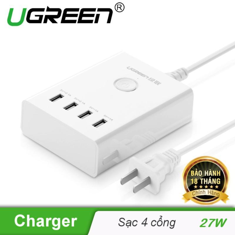 Trạm Sạc USB 4 cổng UGREEN CD102 20375 + Tặng kèm 2 dây sạc Micro USB sang USB 2.0 - Hãng phân phối chính thức