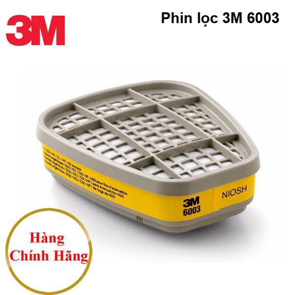 Phin lọc độc 3M 6003 ( Made in Korea Hàn Quốc ) dùng cho mặt nạ phòng độc 3M 6100, 3m 6200, 3M 7501, 3M 7502, 3M 6800, 3M 6900