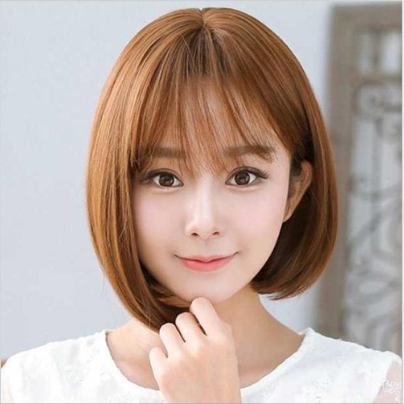 [TẶNG KÈM LƯỚI] Tóc giả nữ nguyên đầu sợi tơ Hàn Quốc CÓ DA ĐẦU - TG53 ( NÂU VÀNG Y HÌNH )