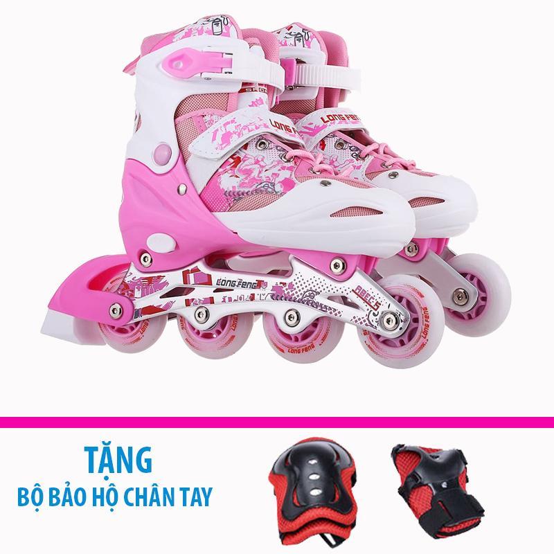 Giá bán Giày trượt patin trẻ em Longfeng 906 size M (Từ 7-10 tuổi) + Tặng bộ bảo hộ chân tay
