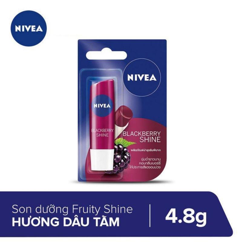 Son Dưỡng Ẩm Sắc Hồng Hương Dâu Tằm Blackberry Shine Nivea 4.8g _ 85286 cao cấp