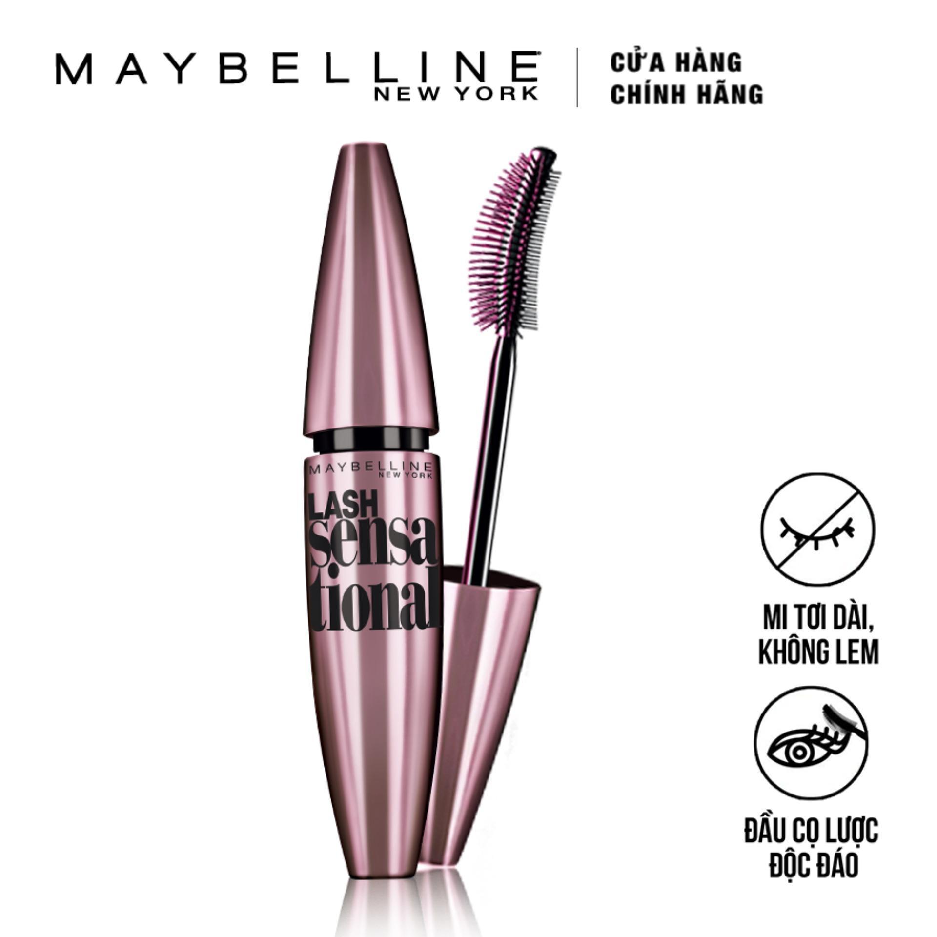 Hình ảnh Mascara Maybelline dài và tơi mi Lash Sensational 10ml (Đen)