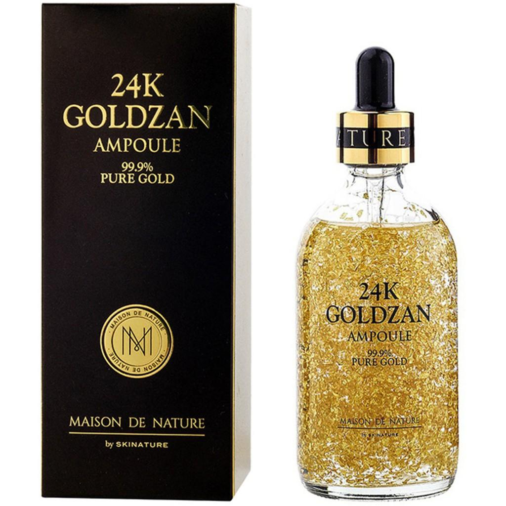 Hình ảnh Serum tinh chất vàng 24k Goldzan Ampoule 99.9% Fure Gold Hàn Quốc 100ml