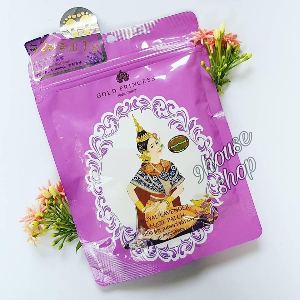 (LAVENDER) Miếng dán thải độc chân Princess Royal Thái lan (Gói 10 miếng)