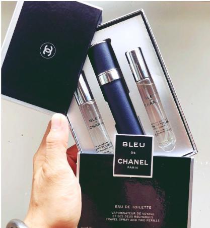Set Nước Hoa Nam Blue Chanel 3 Ống 3x18ml