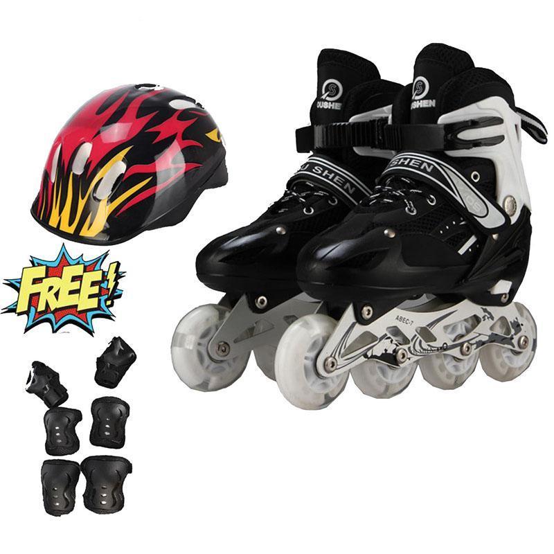 Phân phối Giày trượt patin trẻ em bánh phát sáng OS cao cấp + Tặng bộ bảo hộ