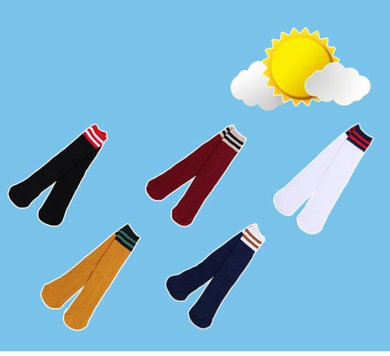 Set 5 Đôi Tất Len Cao Cổ Đến Bắp Chân Cho Bé Gái Từ 5 Đến 10 Tuổi - Tất đẹp kiểu dáng Hàn Quốc nhiều màu đáng yêu cho bé ( màu ngẫu nhiên)