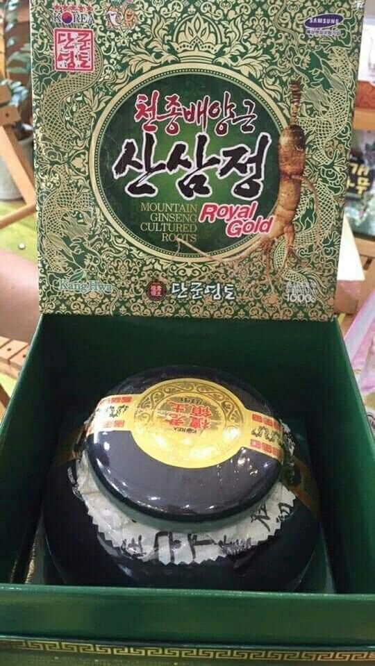 Cao sâm núi 6 năm tuổi Hàn Quốc Hũ Sứ 1kg (mẫu hộp quà mới 2018) nhập khẩu