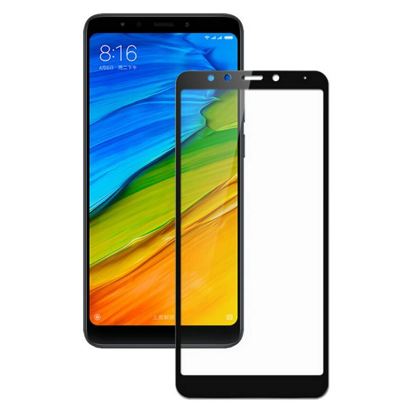Hình ảnh Miếng dán kính cường lực full màn hình cho Xiaomi Redmi 5 Plus (Đen)