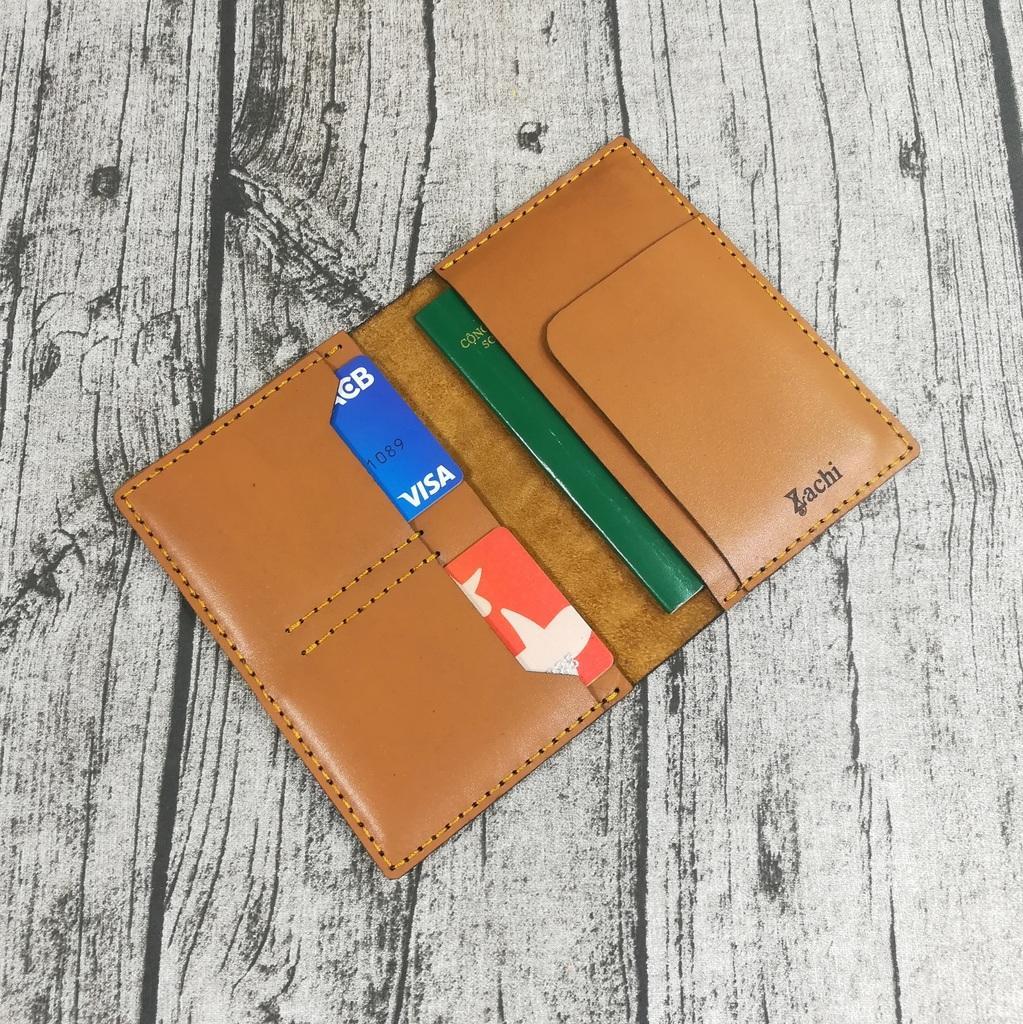 Ví đựng Passport Da Bò, Ví đựng Hộ Chiếu, Bao Da Passport, Vỏ Bao Hộ Chiếu Da Bò Handmade - Kichi PP831 Siêu Giảm Giá