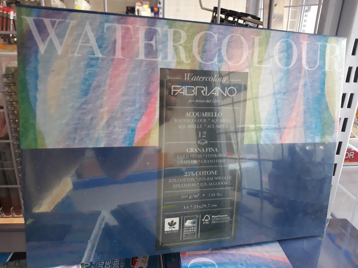 Mua Sổ vẽ màu nước giấy Fabriano, khổ A4, gáy dính