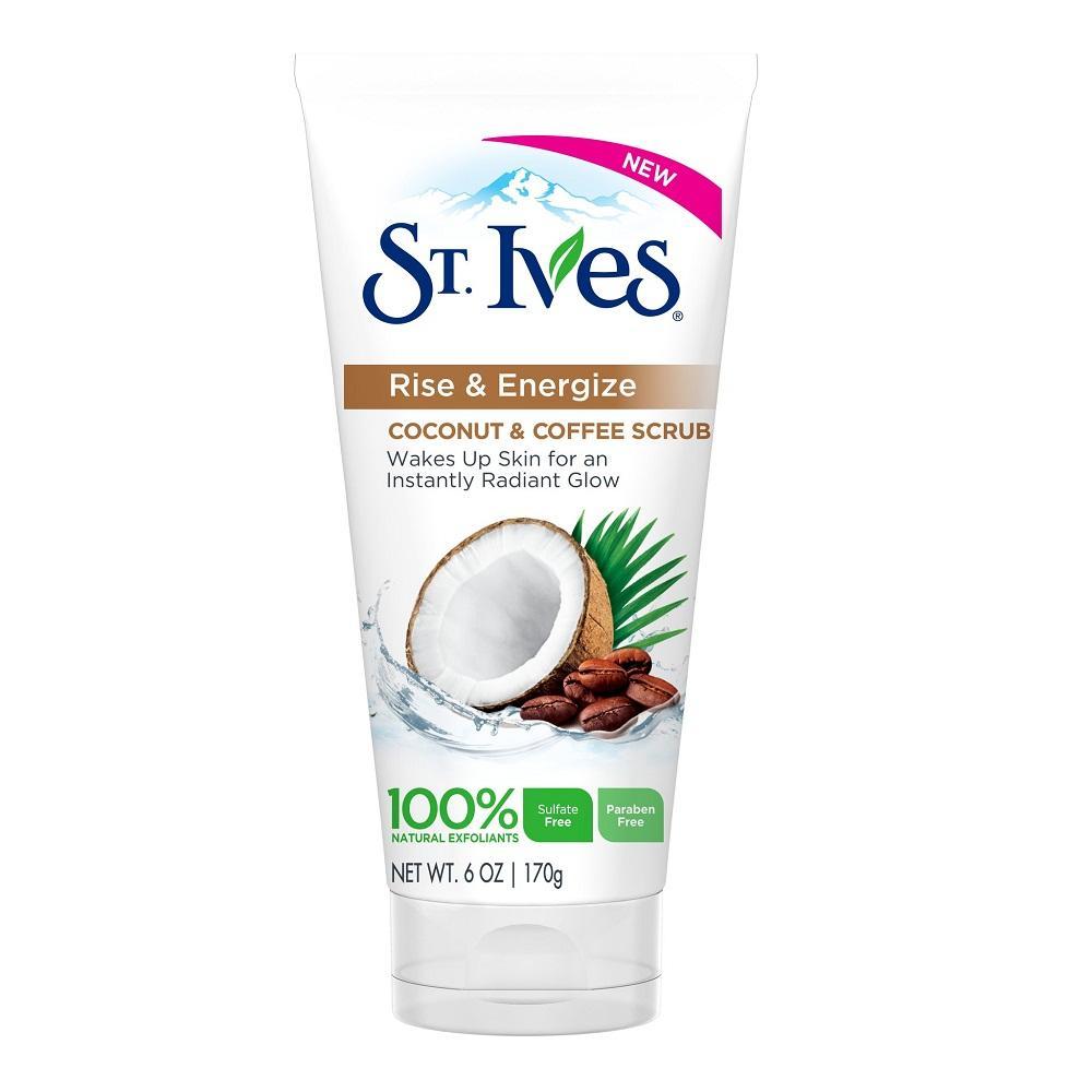 Tẩy Tế Bào Chết Dành Cho Da Khô St.Ives Rise & Energize Coconut & Coffee Scrub 170g