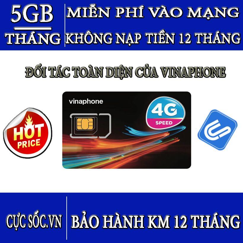 Hình ảnh Sim 4G Vinaphone Vào Mạng Trọn Gói 1 Năm Miễn Phí Không Nạp Tiền