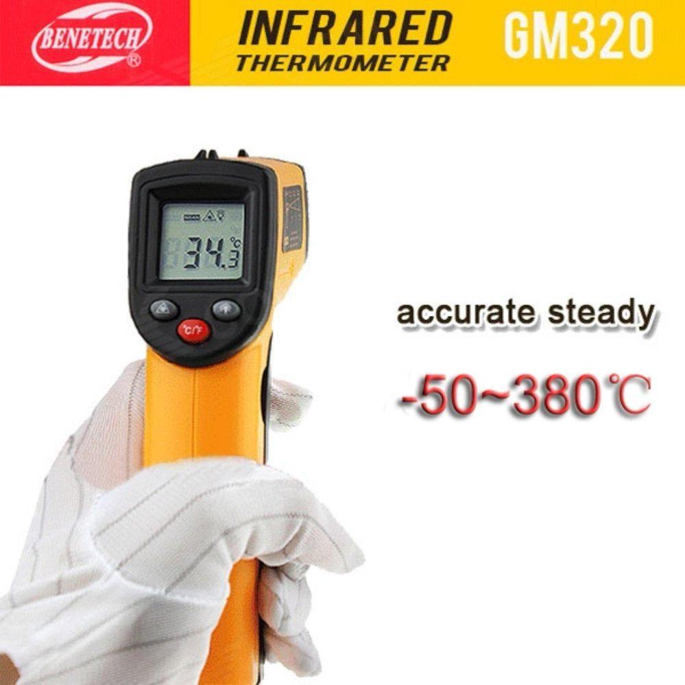 Nhiệt Kế Hồng Ngoại Đo Nhiệt Từ Xa Laser Gm320 Vang Đen Note Chiết Khấu 40