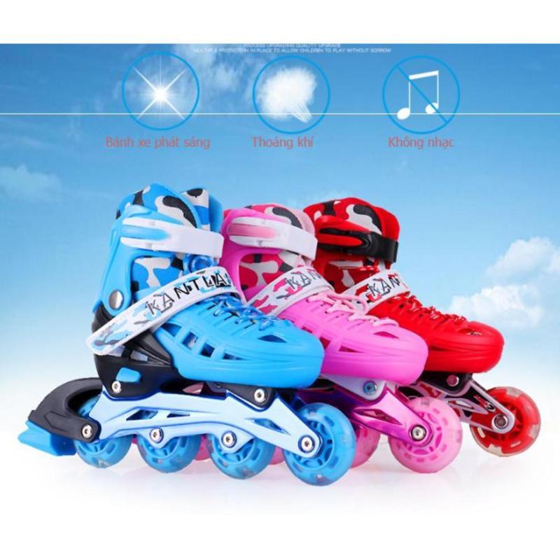 Phân phối Giá giày trượt patin 4 bánh,giay truot patin 4 banh ngang - Giày Patin Trẻ Em, Chắc Chắn, Ôm Sát Chân Chân,  Giúp Bé Vui Chơi Thỏa Thích Mà Lại An Toàn, Sản Phẩm Cao Cấp -Tặng Kèm Bộ Bảo Hộ Đáng Yêu  - Mẫu Mới 2099