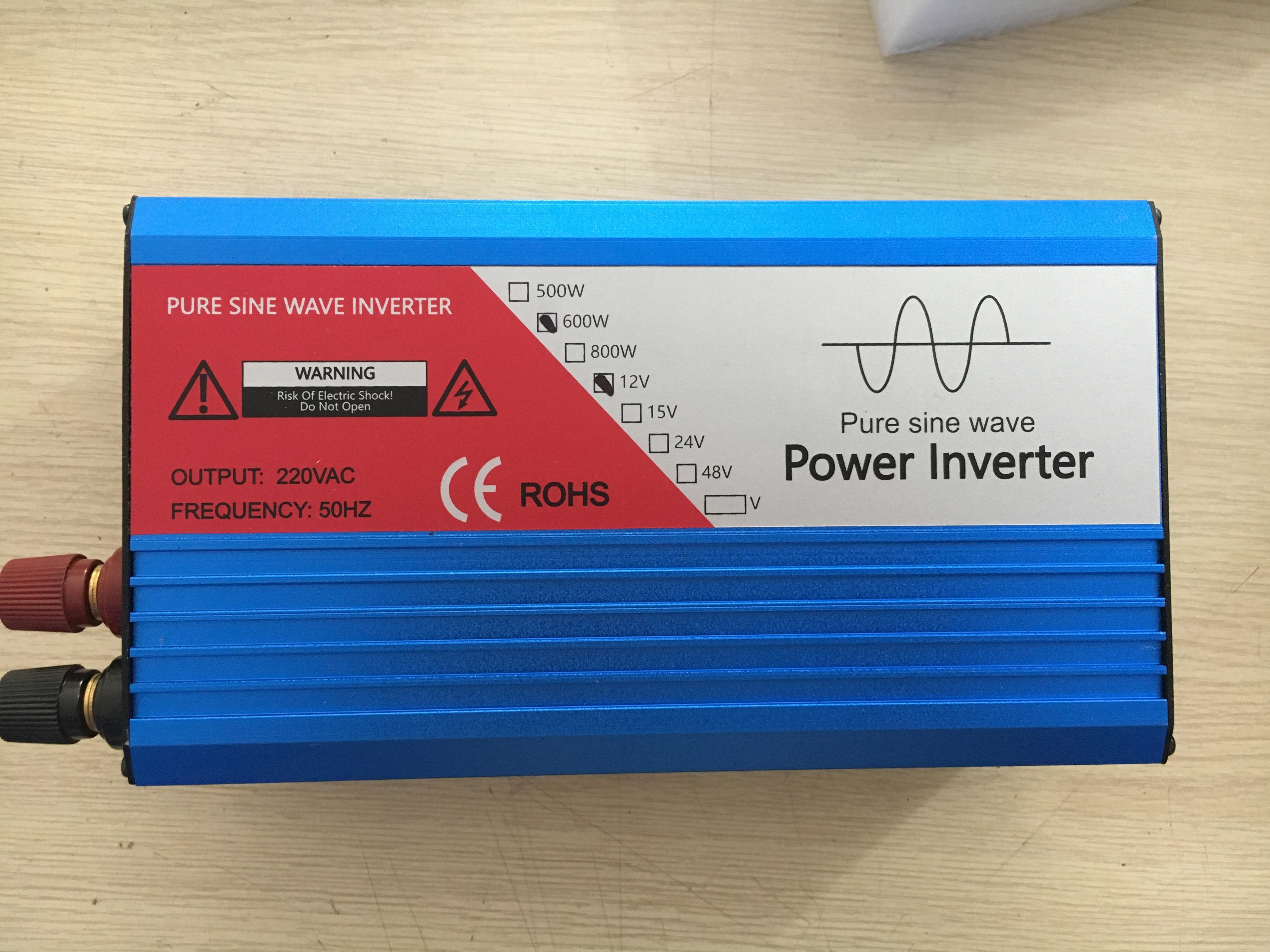 Bộ kích điện Inverter 12V lên 220V 600W sin chuẩn  IC bảo vệ 6 cấp