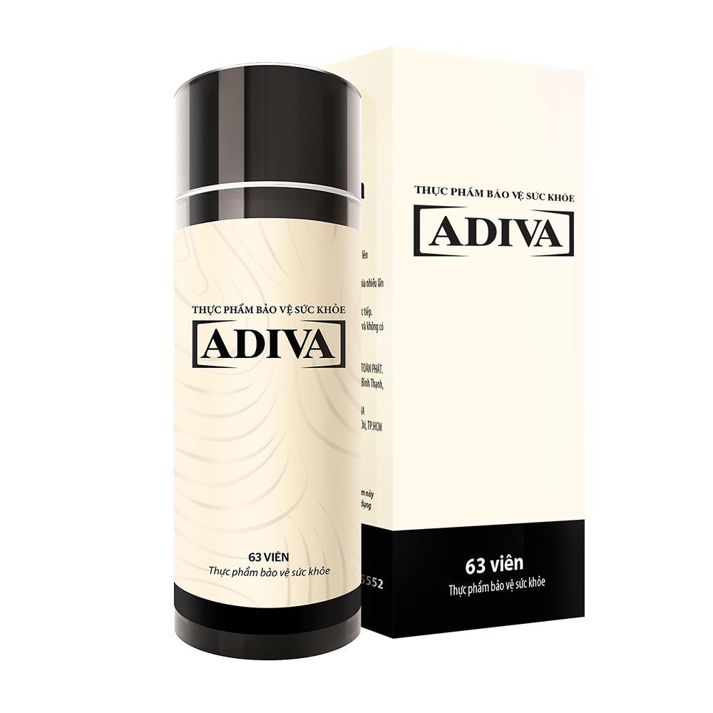 Dưỡng chất uống làm đẹp Collagen ADIVA dạng viên hộp 63 viên