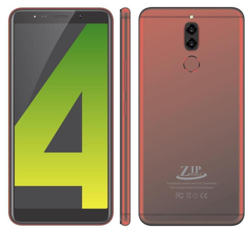 ZIP mobile ZIP.19 - Màn Hình 5.72 Inch LCD IPS - Liền Khối . 2 SIM . Ram:1/Rom:4 - Có 3G+ WiFi - Tặng Ốp Dẻo , Sản Xuất 2018( Không có 4G+cãm biến vân tay )