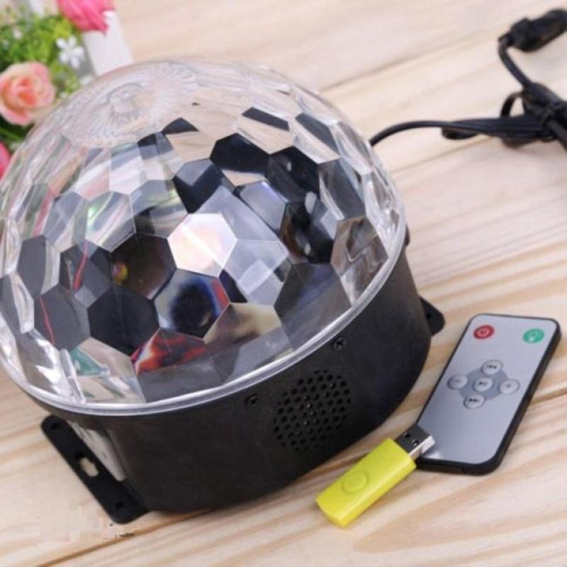 Den Chieu Sao - Đèn pha lê 7 màu NA505, đèn chiếu sao thiên sứ - Đèn xoay sân khấu nhấp nháy có điều khiển + Tặng USB Cao Cấp - Bảo hành uy tín bởi