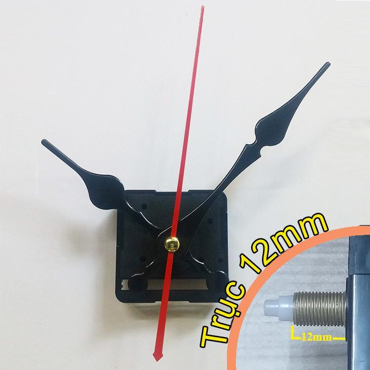 Nơi bán Bộ kim đen kiểu 12cm và Máy đồng hồ treo tường Taiwan loại tốt - Kim trôi trục 12mm