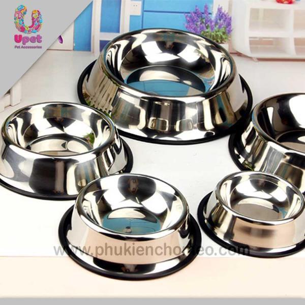 HCM-SP115 - Bát inox ( 4711755) bát ăn chó mèo tròn đơn bằng inox Size 15: đường kính 11cm, cao 4cm-HP10866TC