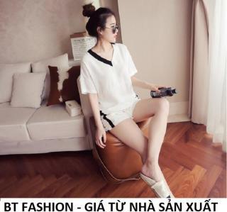 Đồ Bộ Ngủ Mặc Nhà Áo Thun Nữ + Quần Đùi Sọt Thể Thao Thời Trang Mới - BT Fashion (DN01B-MSL) thumbnail