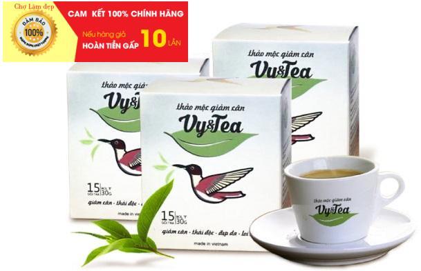 [CHÍNH HÃNG] Trà Giảm Cân Thảo Mộc Vy & Tea (hàng mới, bao text khi nhận hàng)