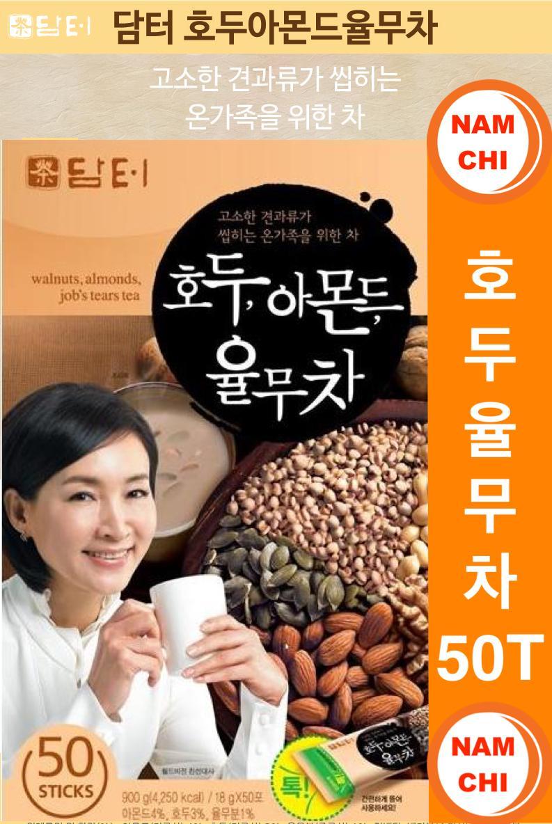 Giá Cực Tốt Khi Mua Bột Ngũ Cốc Hạt Óc Chó, Hạnh Nhân DAMTUH Hàn Quốc (18gam X 50 Gói)
