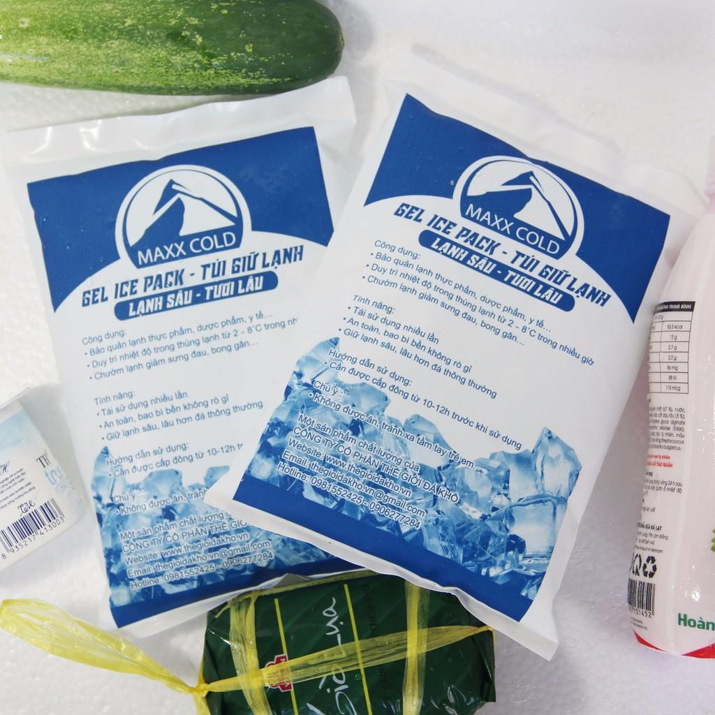 Combo 3 Túi đá Khô Gel Maxx Cold 500g Giữ Lạnh Thực Phẩm, Bảo Quản Sữa Mẹ Có Giá Cực Tốt