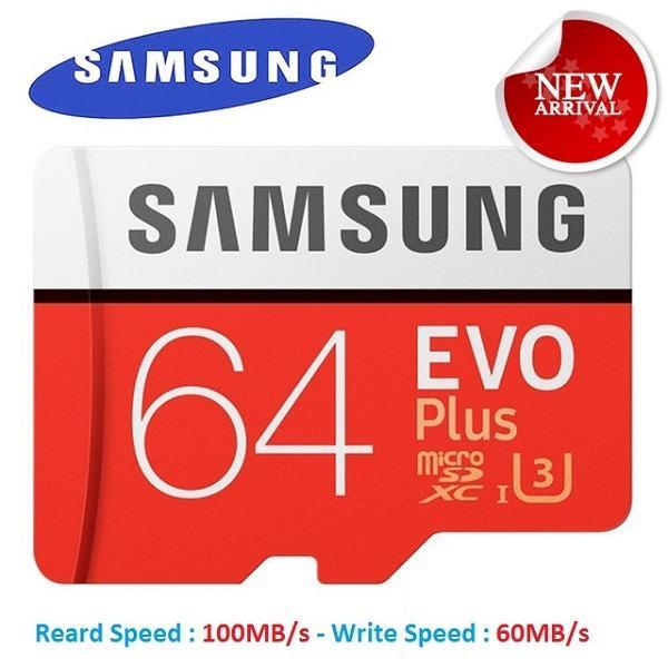 Thẻ nhớ MicroSDXC Samsung EVO Plus U3 64GB 100MB/s (New) + Adapter