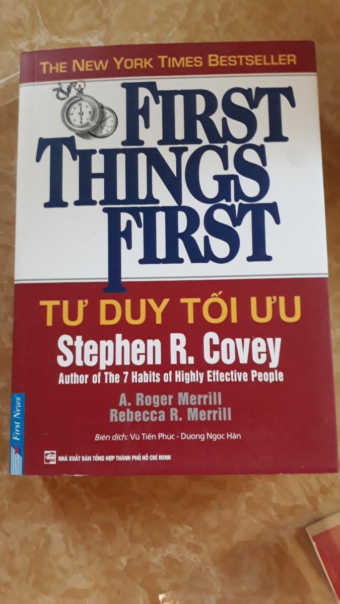 Mua Tư Duy Tối Ưu - First Things First - TOYSTORE