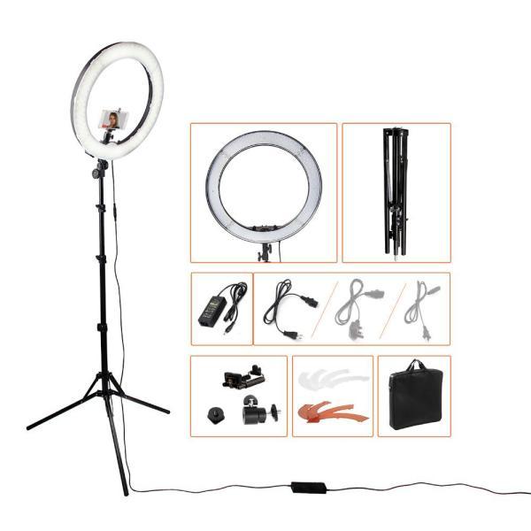 Bộ đèn chụp makeup studio LED Ring 18a + chân đèn chuyên dụng