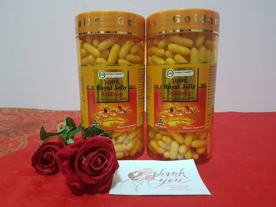 Sữa Ong Chúa Golden Health- 1600 mg – hộp 365 viên nhập khẩu