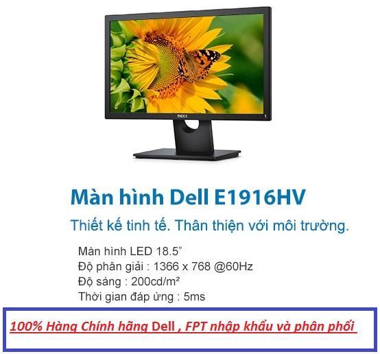 Màn hình Dell E1916HV 18.5 inch  Wide  LED - ( FPT Phân Phối ) Bảo hành 36 Tháng