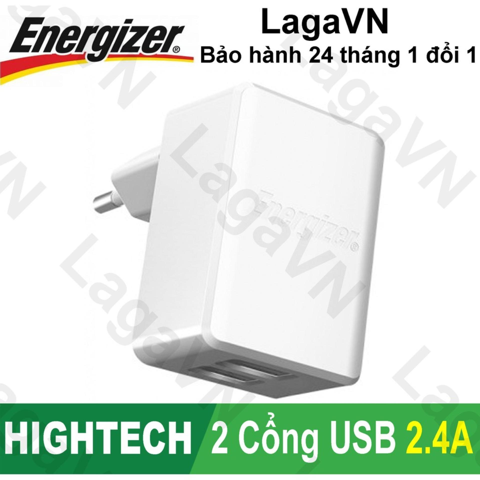 Sạc cao cấp Energizer HT 2 cổng USB 2.4A - ACA2BUSH/EUH