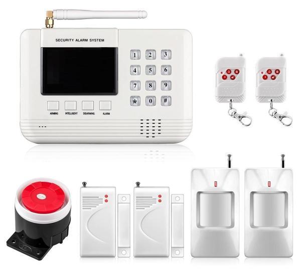 Bộ Báo Động Chống Trộm Dùng Sim GS-6000+ 1 Cửa Từ + 1 Đầu Dò Hông Ngoại