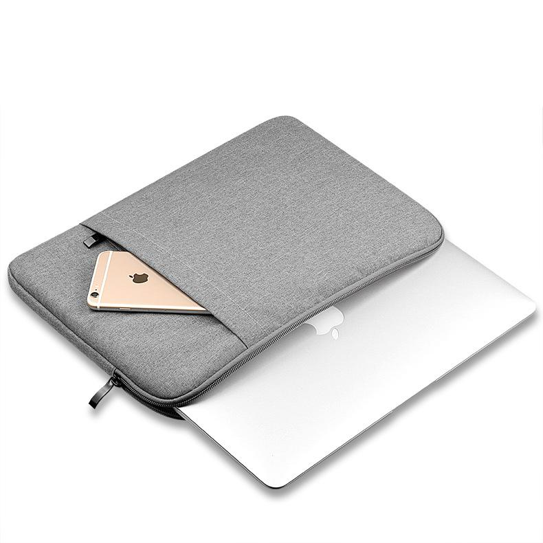 [HCM]Túi Chống Sốc Macbook Cao Cấp 15.6 Inch (Xám Đen Hồng Phấn) Sợi vải chống thấm bền đẹp thêm ngăn đựng điện thoại giấy tờ quan trọng TUILAPTOP15