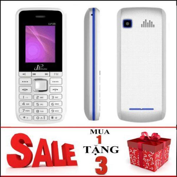 Điện thoại LV129 RẺ GỌN, PHÍM CHUYỂN NHẠC TẶNG 3 (Tặng Túi Chống Nước +Jack Chống Bụi +Khăn Lau)